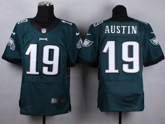 Mens Nfl Philadelphia Eagles #19 Austin Dark Green 2014 Elite Jersey