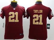 Women  Nfl Washington Redskins #21 Taylor Red Limited Jersey