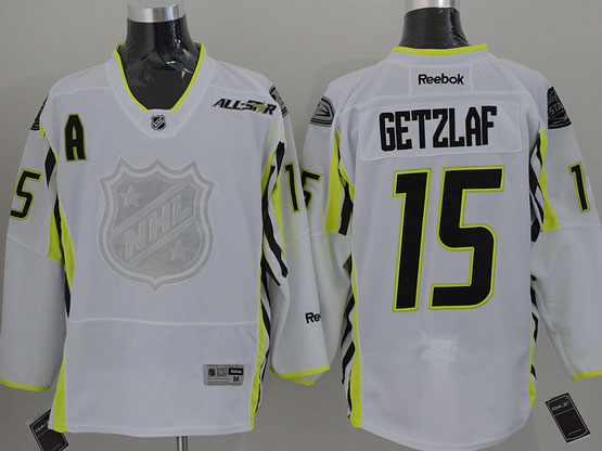 Mens reebok nhl 2015 all star anaheim mighty ducks #15 getzlaf white Jersey