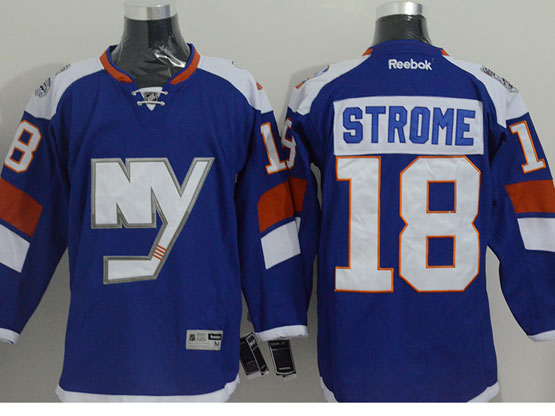 Mens reebok nhl new york islanders #18 strome blue (2014 stadium series) Jersey