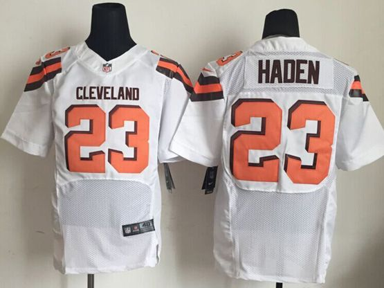 Mens Nfl Cleveland Browns #23 Haden White Elite (2015 New) Jersey