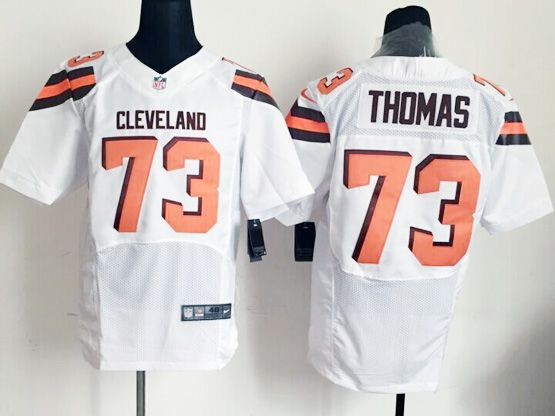Mens Nfl Cleveland Browns #73 Thomas White Elite (2015 New) Jersey