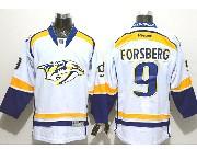 Mens reebok nhl nashville predators #9 forsberg white (2014 new) Jersey