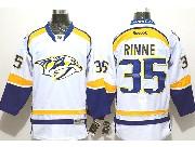 Mens reebok nhl nashville predators #35 rinne white (2014 new) Jersey