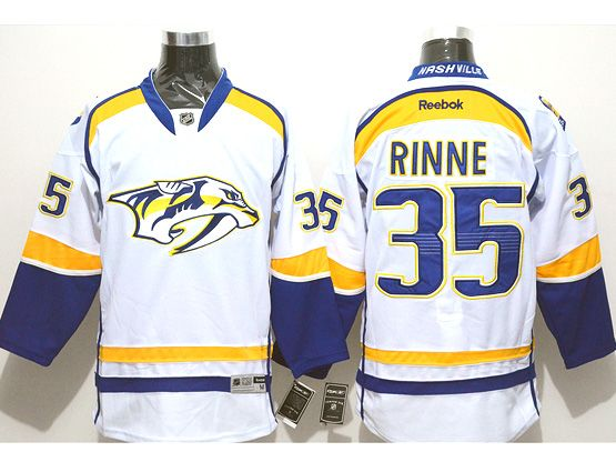 Mens reebok nhl nashville predators #35 rinne white (2014 new) Jersey