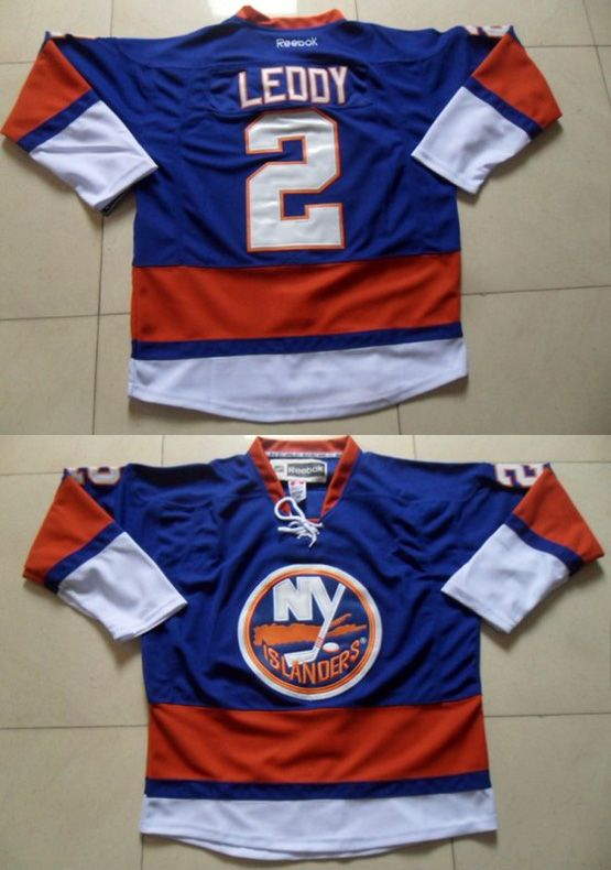 Mens reebok nhl new york islanders #2 leddy blue Jersey