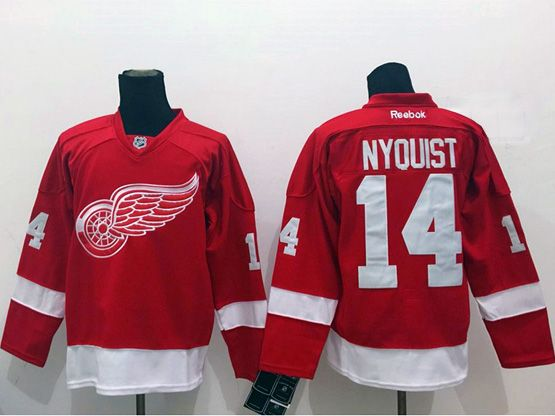 Mens Reebok Nhl Detroit Red Wings #14nyouist Red Jersey