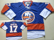 Mens reebok nhl new york islanders #17 martn blue Jersey