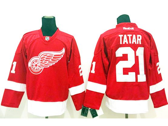 Mens nhl detroit red wings #21 tatar red throwbacks Jersey