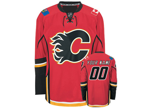 Reebok Calgary Flames Red Home Premier Jersey