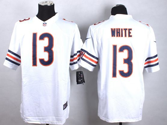 Mens Nfl Chicago Bears #13 White White Limited Jersey