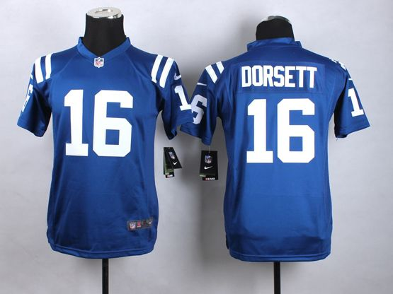 Youth Nfl Indianapolis Colts #16 Dorsett Blue Game Jersey