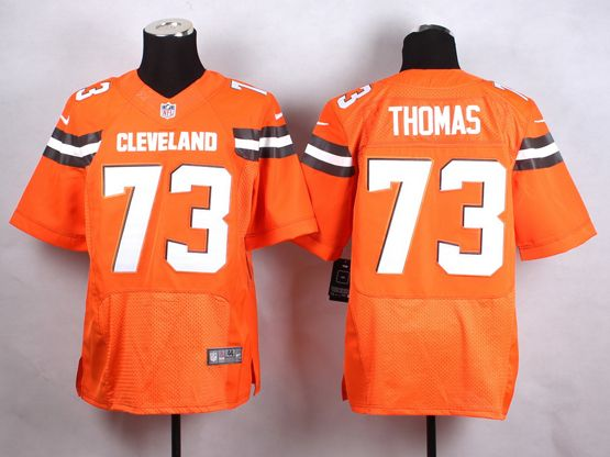 Mens Nfl Cleveland Browns #73 Thomas Orange (2015 New) Elite Jersey