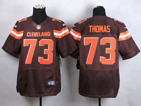 Mens Nfl Cleveland Browns #73 Thomas Brown (2015 New) Elite Jersey