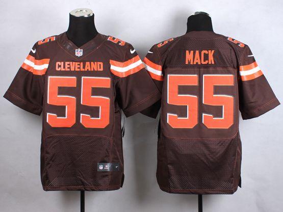 Mens Nfl Cleveland Browns #55 Mack Brown (2015 New) Elite Jersey