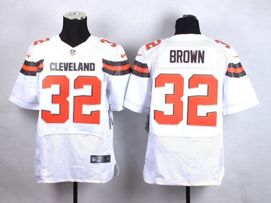 Mens Nfl Cleveland Browns #32 Brown White (2015 New) Elite Jersey