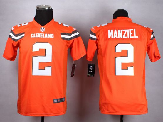 Mens Nfl Cleveland Browns #2 Manziel Orange (2015 New) Game Jersey