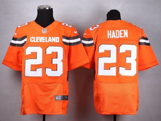 Mens Nfl Cleveland Browns #23 Haden Orange (2015 New) Elite Jersey