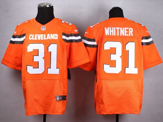 Mens Nfl Cleveland Browns #31 Whitner Orange (2015 New) Elite Jersey