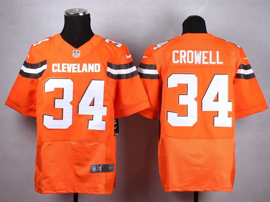 Mens Nfl Cleveland Browns #34 Crowell Orange (2015 New) Elite Jersey