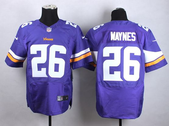 Mens Nfl Minnesota Vikings #26 Waynes Purple Elite Jersey