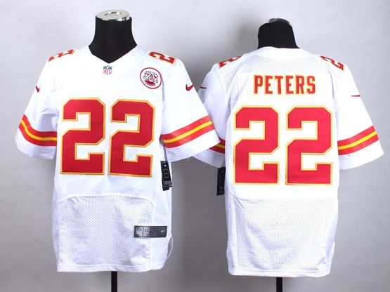 Mens Nfl Kansas City Chiefs #22 Peters White Elite Jersey