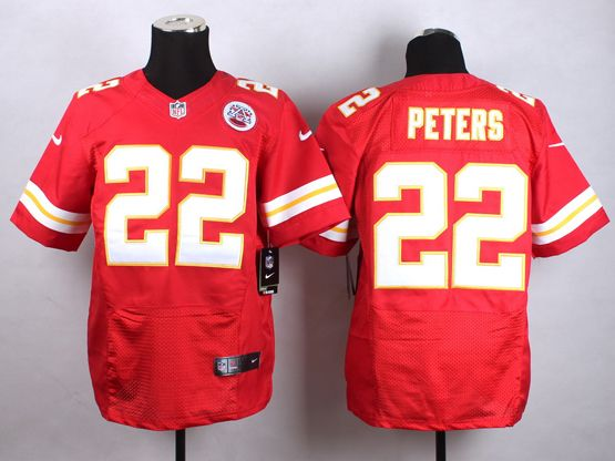Mens Nfl Kansas City Chiefs #22 Peters Red Elite Jersey