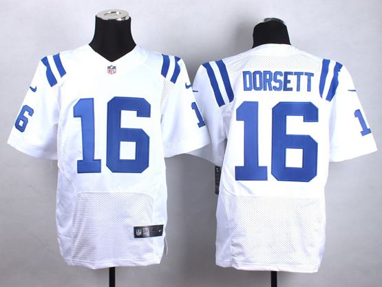 Mens Nfl Indianapolis Colts #16 Dorsett White Elite Jersey