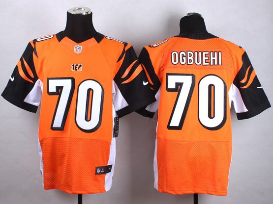 Mens Nfl Cincinnati Bengals #70 Ogbuehi Orange Elite Jersey