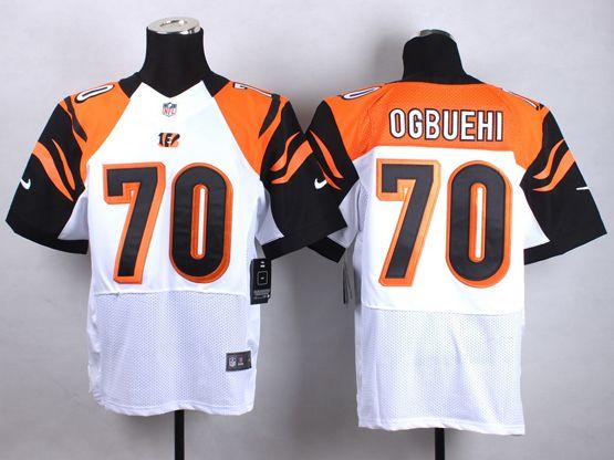 Mens Nfl Cincinnati Bengals #70 Ogbuehi White Elite Jersey
