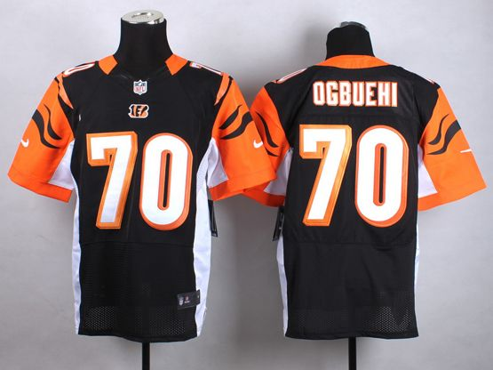Mens Nfl Cincinnati Bengals #70 Ogbuehi Black Elite Jersey