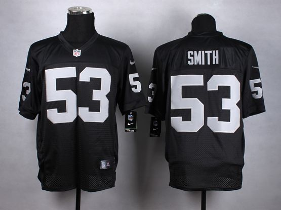 Mens Nfl Oakland Raiders #53 Smith Black Elite Jersey