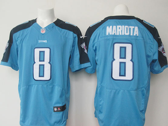 mens nfl tennessee titans #8 mariota Light Blue elite jersey