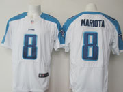 Mens Nfl Tennessee Titans #8 Mariota White Elite Jersey