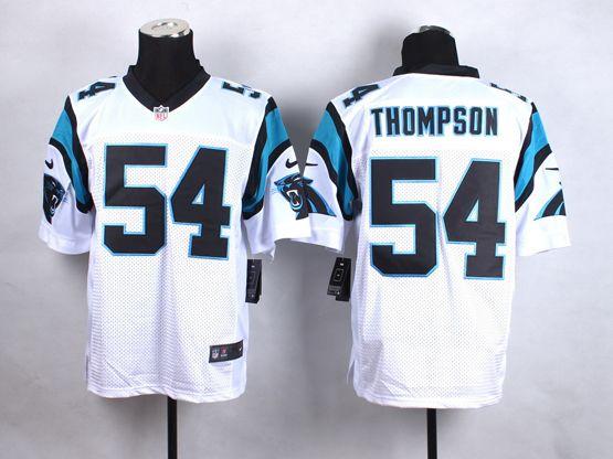 Mens Nfl Carolina Panthers #54 Thompson White Elite Jersey