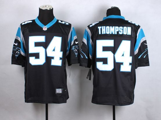 Mens Nfl Carolina Panthers #54 Thompson Black Elite Jersey
