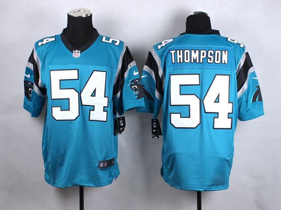 Mens Nfl Carolina Panthers #54 Thompson Blue Elite Jersey