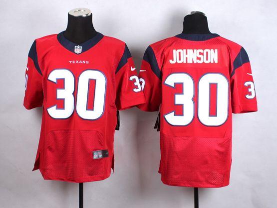 Mens Nfl Houston Texans #30 Johnson Red Elite Jersey