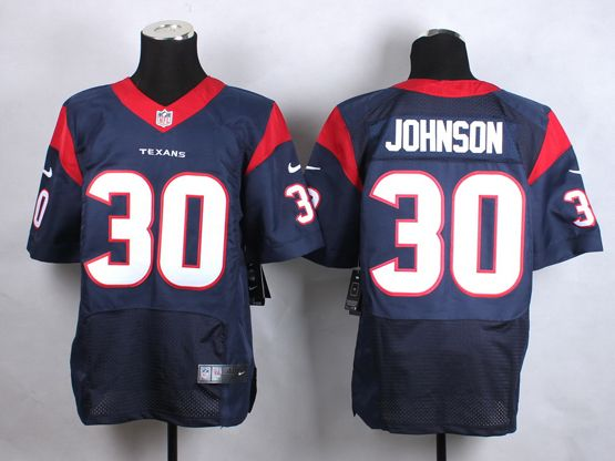 Mens Nfl Houston Texans #30 Johnson Blue Elite Jersey
