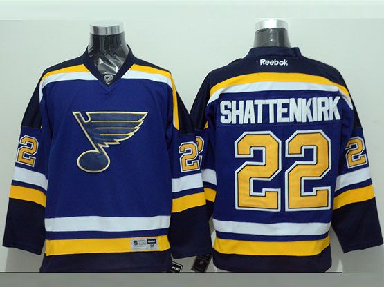 Mens nhl st.louis blues #22 shattenkirk light blue (2015 new) throwbacks Jersey