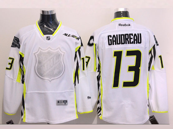 Mens reebok nhl 2015 all star calgary flames #13 gaudreau white Jersey