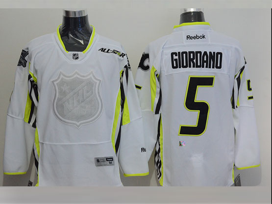 Mens reebok nhl 2015 all star calgary flames #5 giordano white Jersey