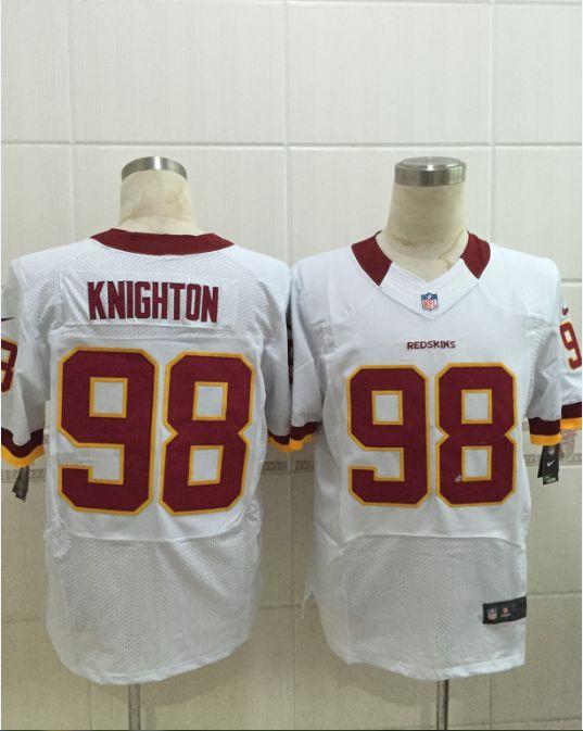 Women  Nfl Washington Redskins #98 Knigton White Elite Jersey