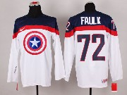 Mens nhl captain america #72 faulk white Jersey