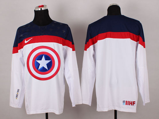 Mens nhl captain america (blank) white Jersey