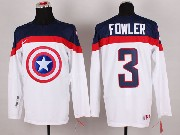 Mens nhl captain america #3 fowler white Jersey