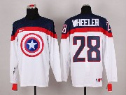 Mens nhl captain america #28 wheeler white Jersey