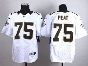 Mens Nfl New Orleans Saints #75 Peat White Elite Jersey