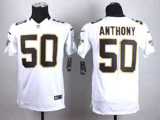 Mens Nfl New Orleans Saints #50 Anthony White Game Jersey
