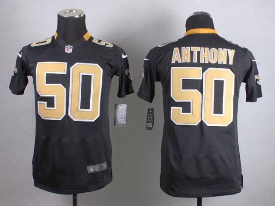 Mens Nfl New Orleans Saints #50 Anthony Black Game Jersey